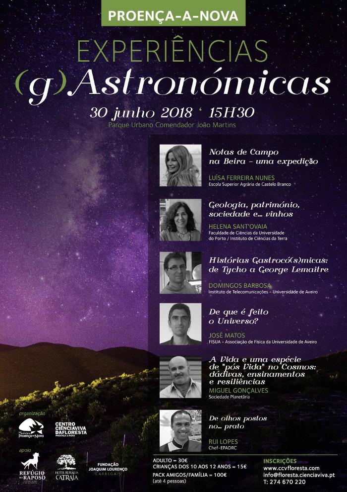 Experiências (g)Astronómicas 2018