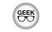 Crachá 25mm: Geek