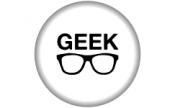 Crachá 45mm: Geek
